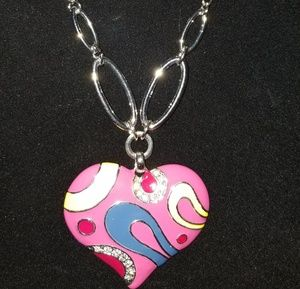 Jewelry - Heart necklace set with earrings